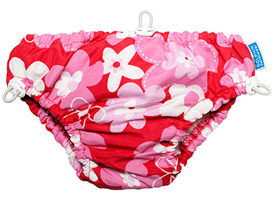 Dolfin Swimwear swim diaper, Red Flowers