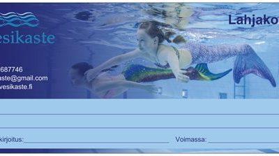 Lahjakortti Merenneidonpyrstö / Merenneitokoulu Forssa ja Somero