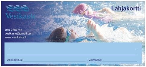 Lahjakortti EasySwim Uimakoulu / Yksityisopetus Forssa