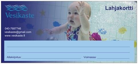Lahjakortti vauvauintiin Forssa ja Somero
